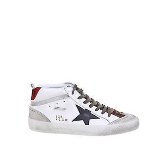Ganso dourado Gmf00122f00039380345 Mulheres's Couro Branco Hi Top Sneakers