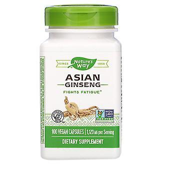 Nature's Way, Asian Ginseng, 1,120 mg, 100 Vegan Capsules
