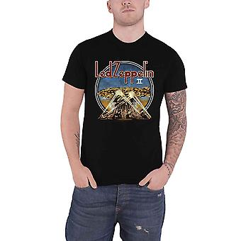 Led Zeppelin T Shirt LZII Searchlights Band Logo new Official Mens Black