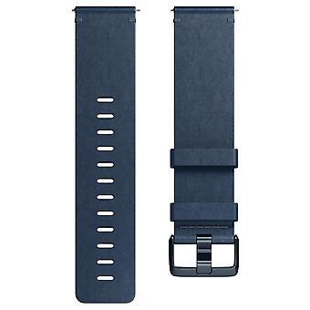 Versa/Versa 2 Leather Bracelet M.Blue Large