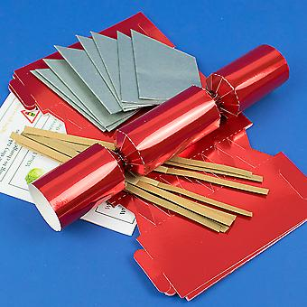 8 Red Foil Make & Fill Your Own DIY Christmas Cracker Craft Kit 8 Red Foil Make & Fill Your Own DIY Christmas Cracker Craft Kit 8 Red Foil Make & Fill Your Own DIY Christmas Cracker Craft Kit 8