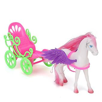 Kids Mini Horse Drawn Cart Play House Kid- Simulated Carriage Educational Toys