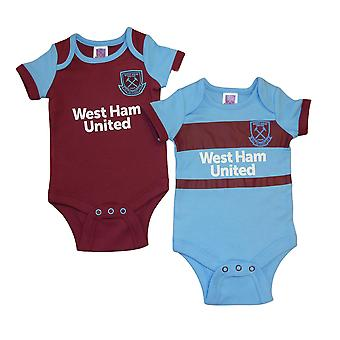 West Ham United FC Baby Kit 2 Pack Bodysuits | 2020/21