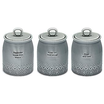 Cooksmart Purity Set of 3 Canisters