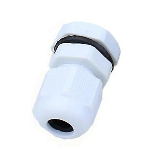 Pg7 Cable Gland Connector, Waterproof Nylon Plastic For 3-6.5mm Cable