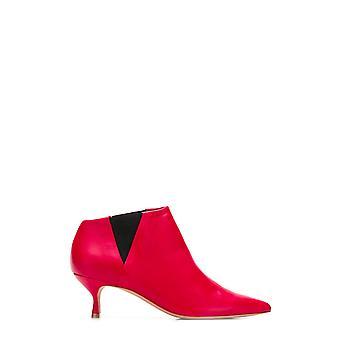 Golden Goose G34ws573a3 Kvinnor's röda läder kängor