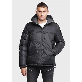 883 Police Packing Reversible Black/grey Hooded Jacket