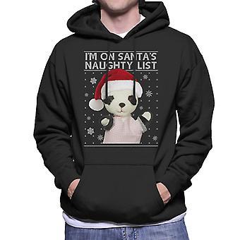 Sooty Christmas so Im On Santas Naughty List Men's Hooded Sweatshirt