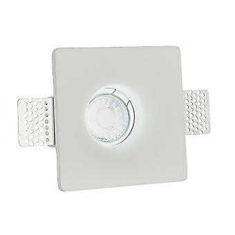 Einbau weiß Gips 1 Licht Dimmbar IP20 - GU10
