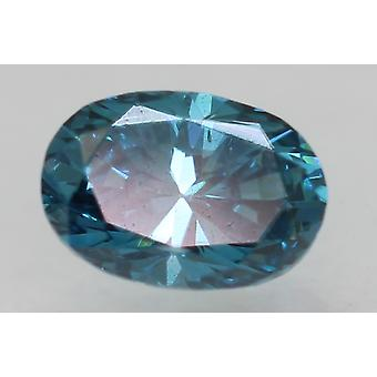 Cert 0,31 Karat Vivid Blau VVS1 Oval Enhanced Natürliche lose Diamant 4.91x3.4mm