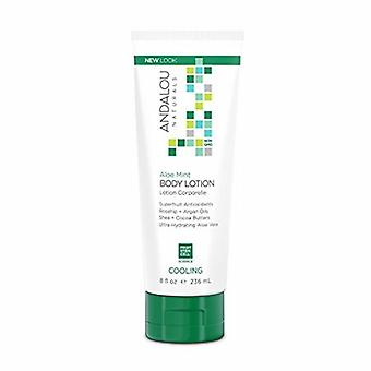 Andalou Naturals Body Lotion, Cooling Aloe Mint 8 Oz