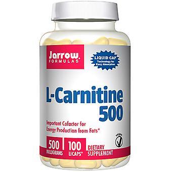 Jarrow Kaavat L-karnitiini, 500 mg, 100 Neste korkit