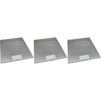 3 x Universal Cooker Hood Metal Grease Filter 280mm x 320mm