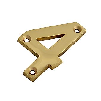 Forge Numeral No.4 - Brass Finish 75mm (3in) FGENUM4BR75