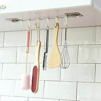 Kitchen Gabgets Cupboard - 6 Hook, Home Organizer Storage Rack