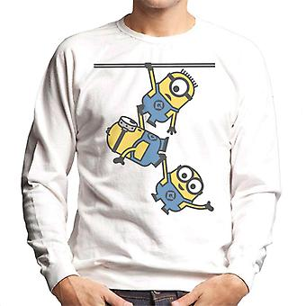 Desprezível Me Bob Stuart e Dave The Minions Hanging Men's Sweatshirt