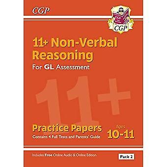 Novos 11 + GL papéis de prática de raciocínio não-verbal: ages 10-11 Pack 2 (Inc pais ' Guide & on-line Ed)