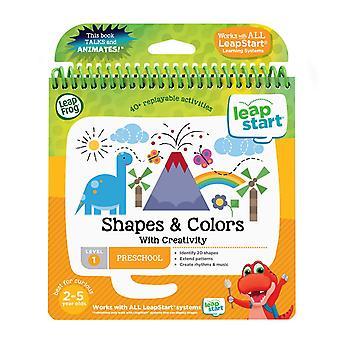 Leapfrog 21503 leapstart formas/cores do berçário e formas de livro de atividade de expressão criativa e col