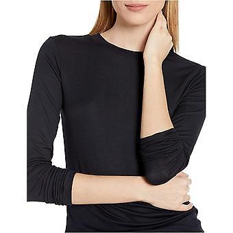 Brand - Daily Ritual Women's Fluid Knit Long-Sleeve Crewneck Shirt, Navy,Large