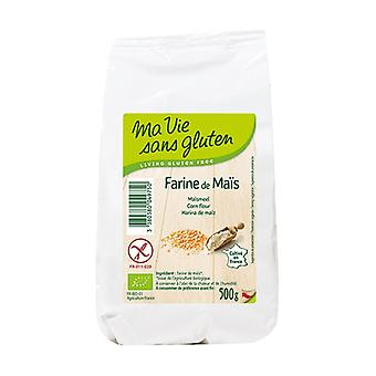 Organic corn flour 500 g of powder