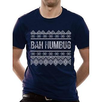 للجنسين الكبار باه Humbug عيد الميلاد تي شيرت