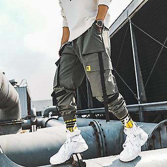 Miehet Nauhat Streetwear Cargo Housut Syksy Hip Hop Lenkkeilijät