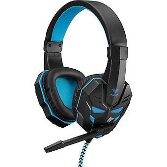 Gaming Headset Hörlurar AULA Prime Stereo Basic - Svart/Blå