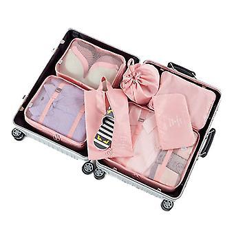 6Ks Cestovná úložná taška na balenie oblečenia Cube Batožina Organizátor vodotesný kompresný úschovňa batožiny