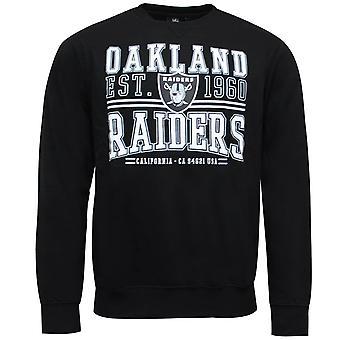 Nfl Team Apparel Oakland Raiders sudadera masculina camiseta gráfica negra A3ORA5204BLK