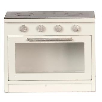 Dolls House Black & White Cooker Modern Miniature Kitchen Furniture