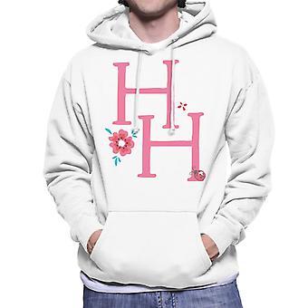 Holly Hobbie Initialen mit einer Blume Männer's Kapuzen Sweatshirt