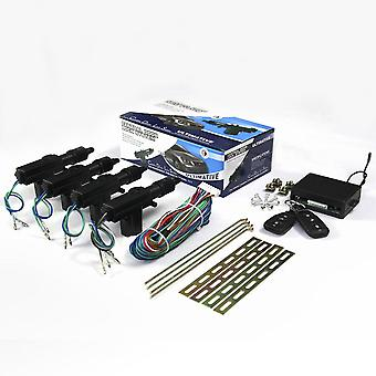 Door Lock Keyless & Entry System Remote Central Control Locking Kit With Trunk
