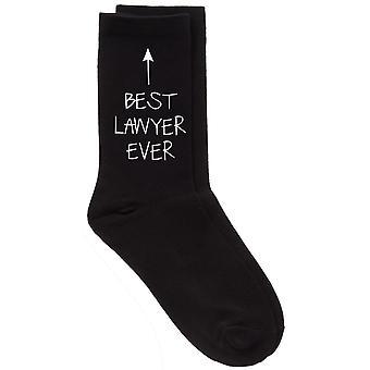 Best Lawyer Ever Black Calf Socks Birthday Socks