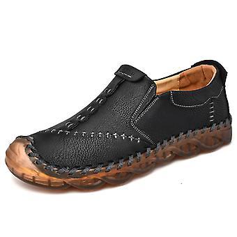 Zapatos Casual para Hombre Mocasines de Cuero 3038 Negro