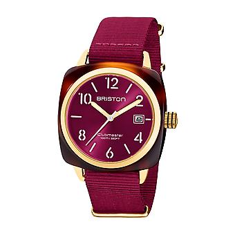 Briston 20240.PYA.T.28.NBER Clubmaster Classic Acetate Wristwatch Berry Pink
