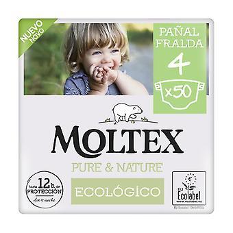 Moltex Pure & Nature T4 diapers (9-15 kg) 50 units