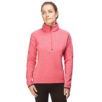 New Peter Storm Women's Knit Look Half Zip Fleece Pink