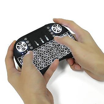 I8 weiß Hinterleuchtet 2.4Ghz Wireless Mini Tastatur Air Mouse Touchpad