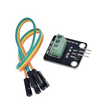 Ds18b20 Temperature Sensor Module Kit Waterproof Terminal Adapter For Arduino