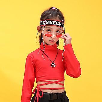 Children Hip Hop Clothing Sweatshirt Shirt Top Crop Casual Pants For Jazz Dance