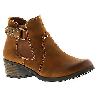 Earth Spirit El Reno Womens Ladies Leather Ankle Boots Tan UK Size