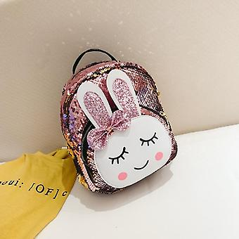 Fashion School Babbit Faux Leather + Sequins Backpack