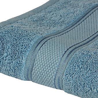Asciugamano Viso Colore Azzurro in Cotone, L60xP100 cm