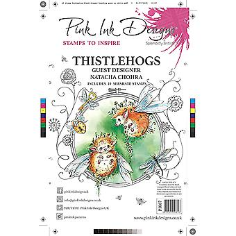 Pink Ink Designs Thistlehogs A5 Clear Stamp