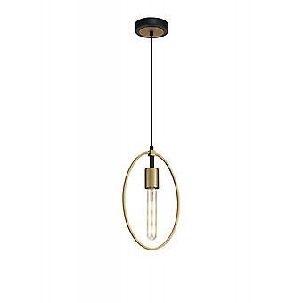 Lámpara Colgante De Diseño Pöly 1 Bombilla Arena Dorada 38 Cm