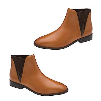 Genuine Leather Ankle Boots for Women Tan Colour Size 6