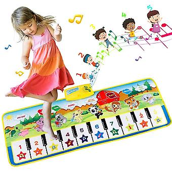 Extsud piano mat, multi-function piano mat musical toys play mats music singing gym carpet mat touch wof18153