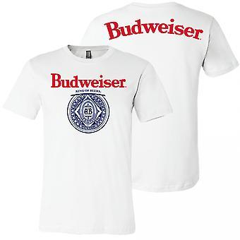Budweiser King of Beers Etu- ja takapainatus T-paita