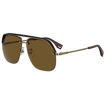 Fendi FF M0095/G/S FG4/70 Brune Guld/Brune solbriller