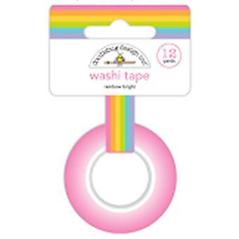 Doodlebug Design Regenbogen helle Washi Tape